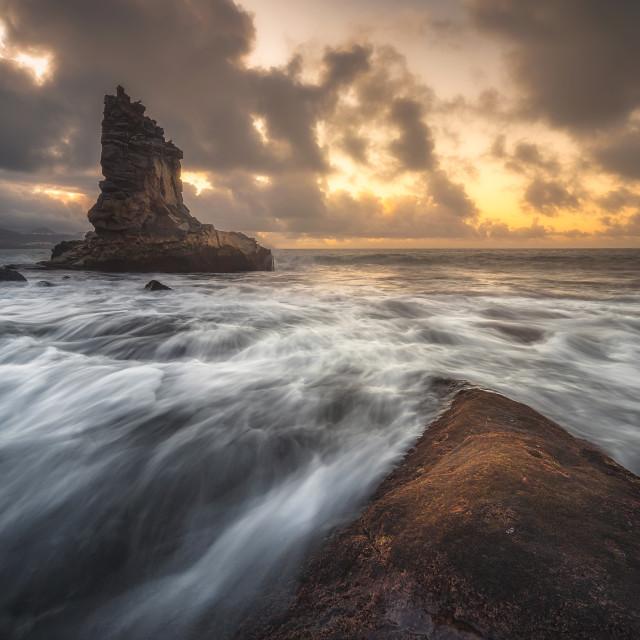 """""""Playa de las canteras and puntilla"""" stock image"""