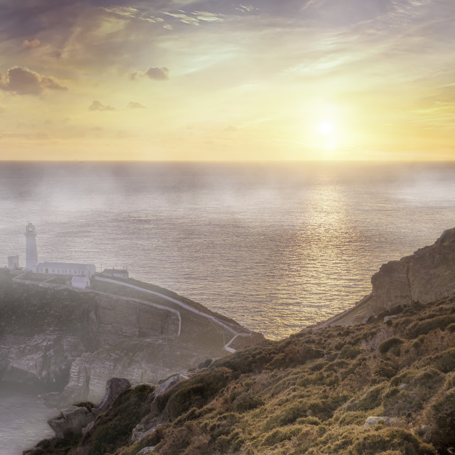 """""""South Stack Lighthouse, Holyhead, Anglesey, Gwynedd, North Wales, United Kingdom"""" stock image"""