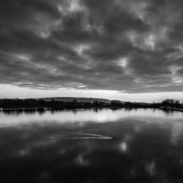 """Tring Reservoir at Sunset"" stock image"