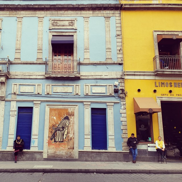 """""""Storefronts in Mexico City's El Centro"""" stock image"""