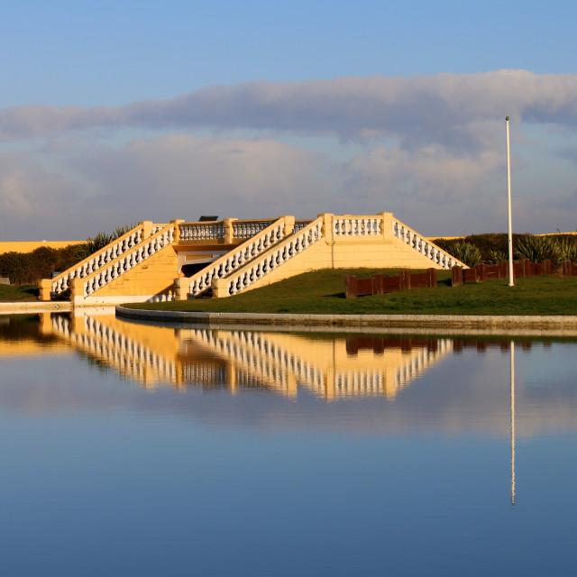 """Redcar boating lake, Saturday morning 30/11/19."" stock image"