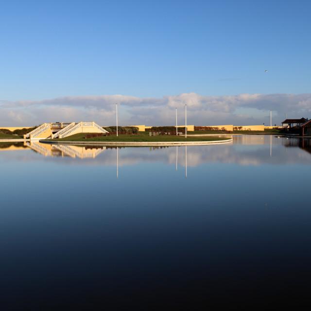 """""""Redcar Boating Lake."""" stock image"""