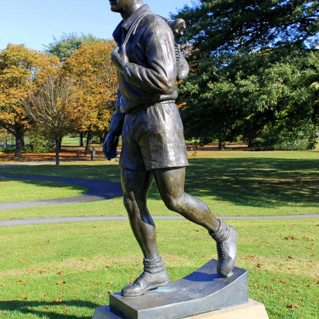 """""""Brian Clough Statue"""" stock image"""
