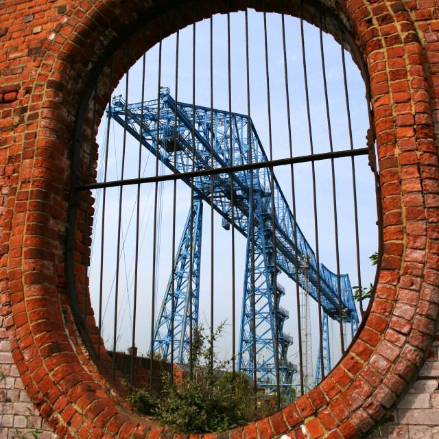 """Middlesbrough's Transporter Bridge"" stock image"