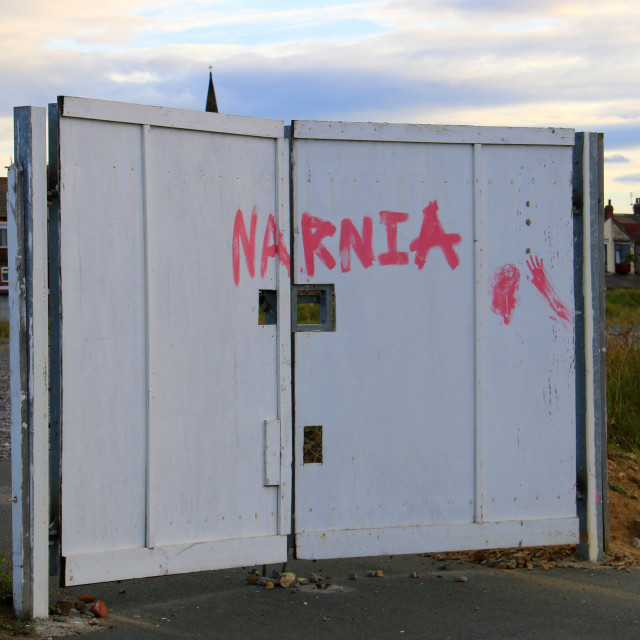 """Narnia, Redcar. The Mighty Redcar!"" stock image"