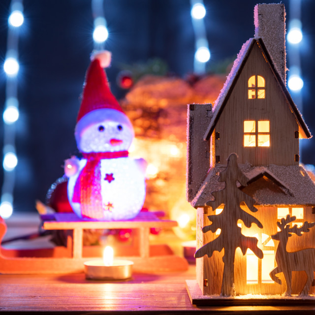 """""""Christmas gingerbread house decoration."""" stock image"""