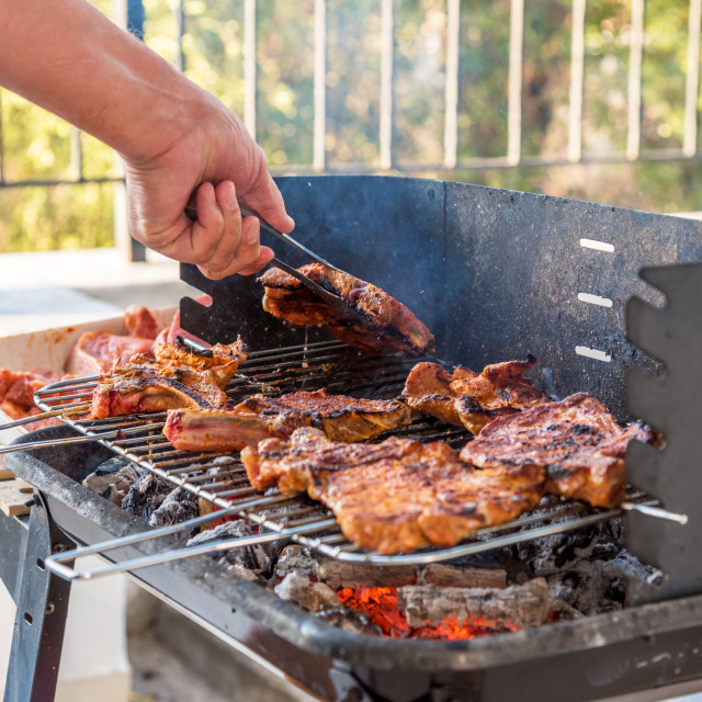 """""""Time for barbecue."""" stock image"""