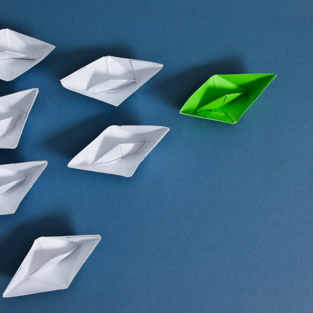 """""""Paper boats"""" stock image"""