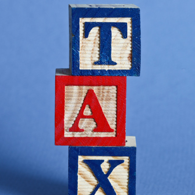 """""""Tax time"""" stock image"""