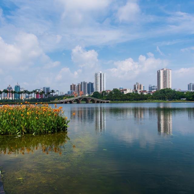 """""""Nanhu South lake park in Nanning China"""" stock image"""