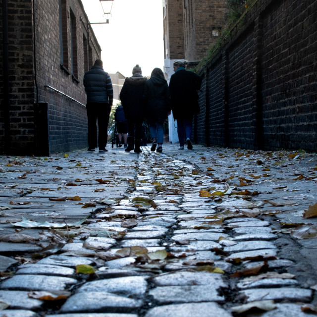 """""""Cobbled street in London"""" stock image"""