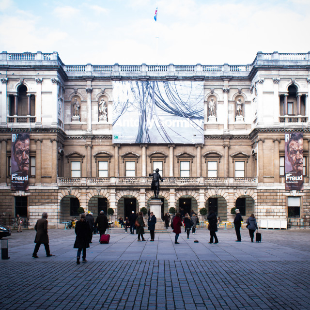"""""""Annenberg Courtyard in front of the Royal Academy"""" stock image"""