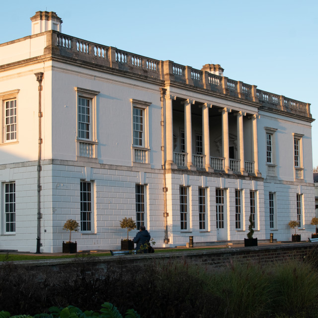 """""""Rear of the Queen's House in Greenwich Park"""" stock image"""
