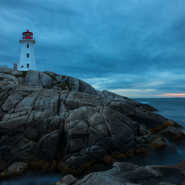 """Peggys Cove Sunset"" stock image"