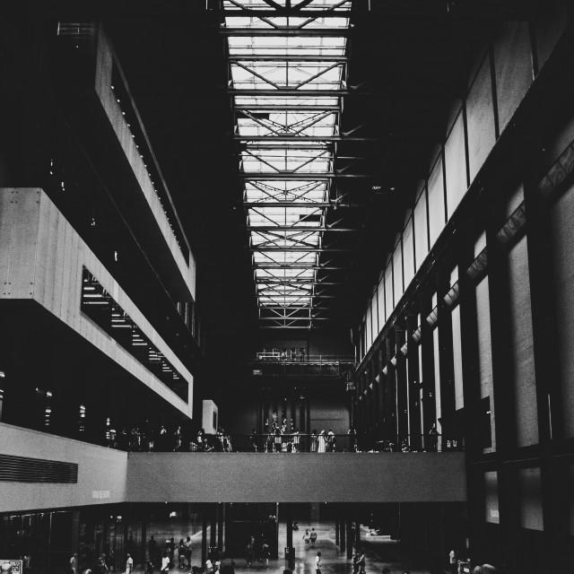 """Inside of the Tate Modern Turbine Hall"" stock image"
