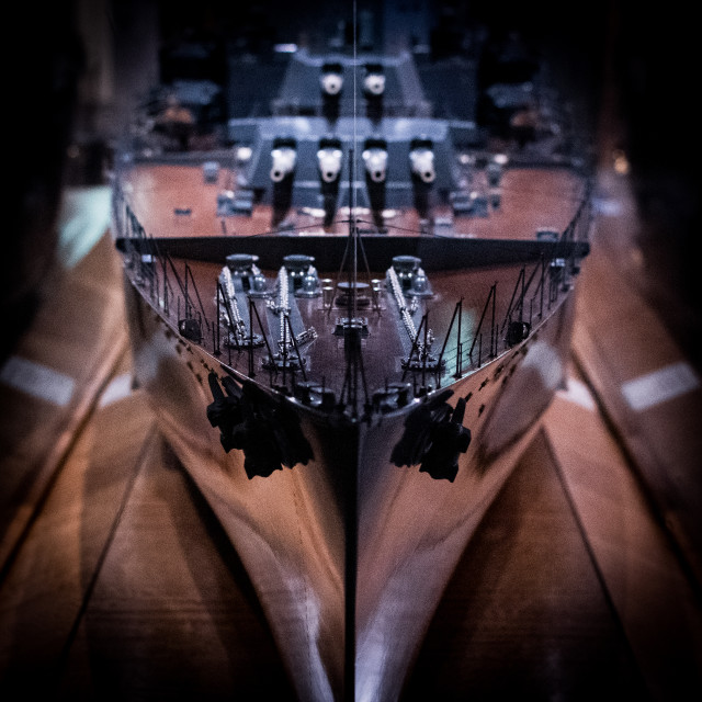 """""""Close up of a model of a boat"""" stock image"""