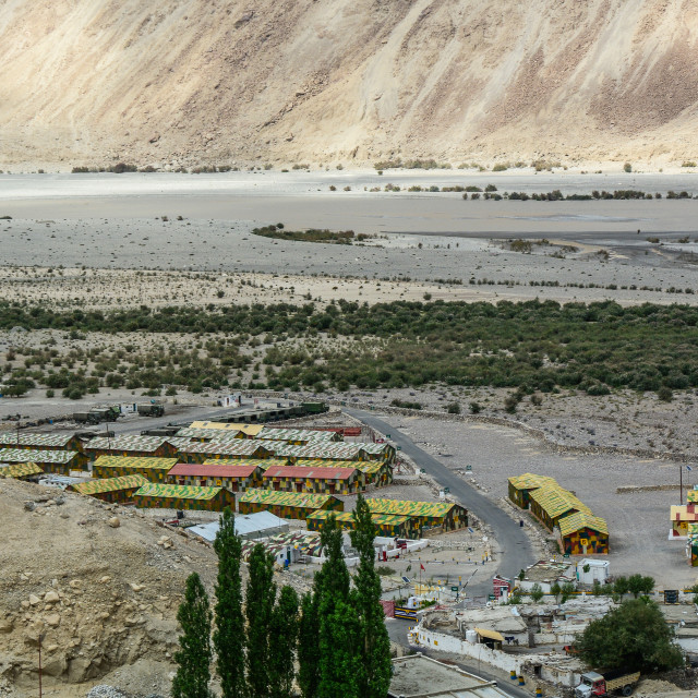 """Military base in Ladakah, Northern India"" stock image"