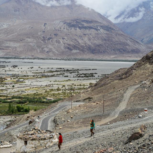 """Mountain scenery of Ladakh, India"" stock image"