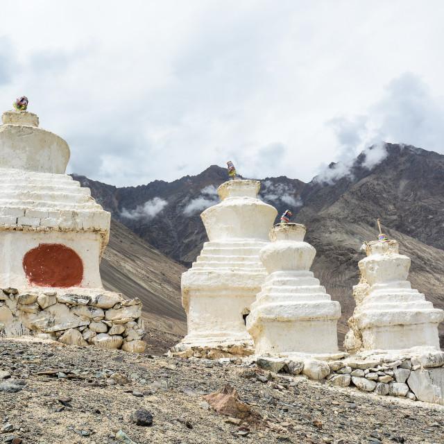 """Tibetan Buddhist Temple in Ladakh, India"" stock image"