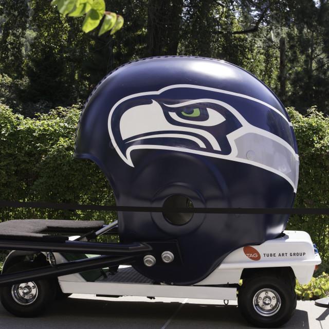 """Giant American Football Helmet - Seattle Seahawks"" stock image"