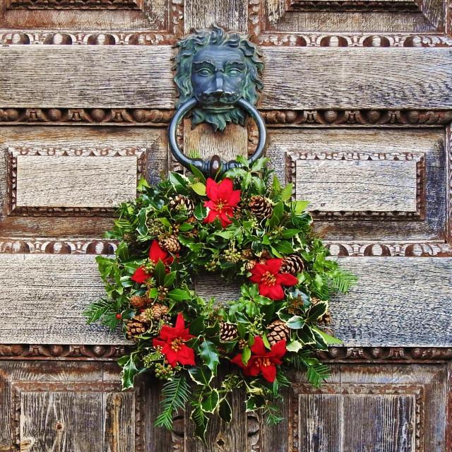 """Welcome for Christmas."" stock image"