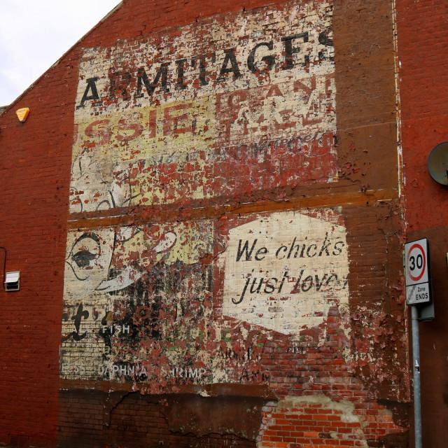 """Ghostsign in Ashington, Northumberland."" stock image"