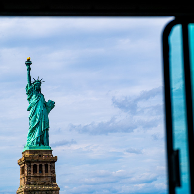 """""""Statue of Liberty from Ferry"""" stock image"""