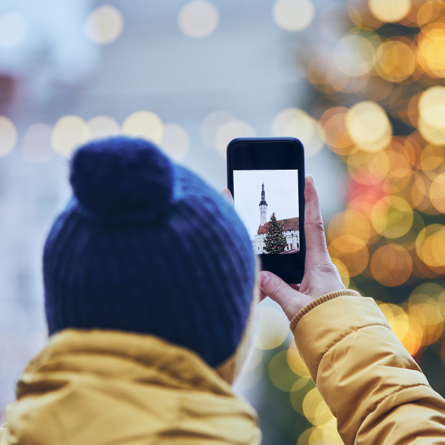 """Memories from Christmas market"" stock image"
