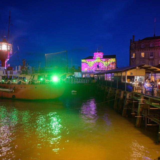"""""""Ha penny Pier Harwich Mayflower400"""" stock image"""