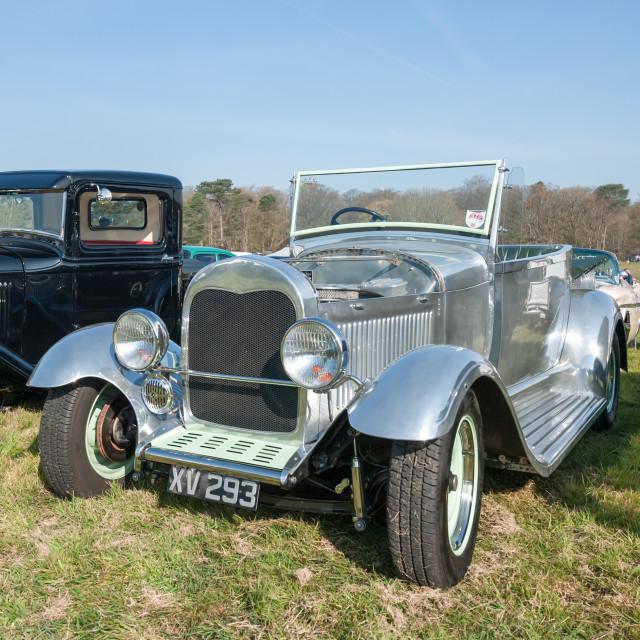 """Vintage chromed Ford Model A"" stock image"