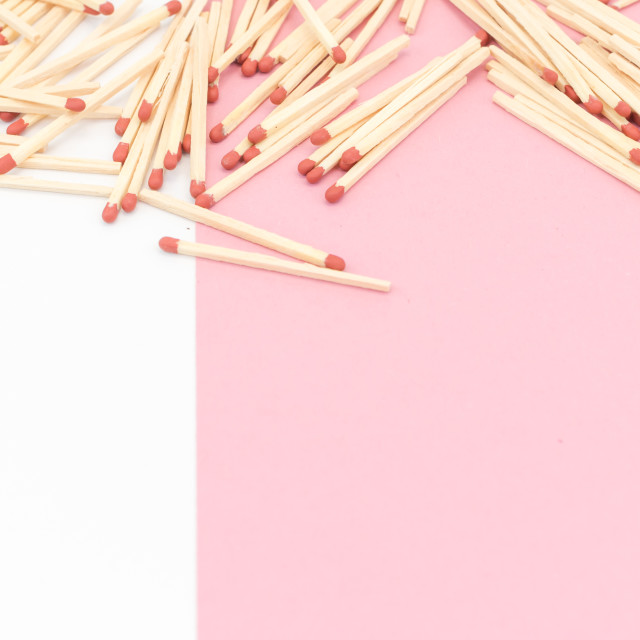 """matches on a white background"" stock image"