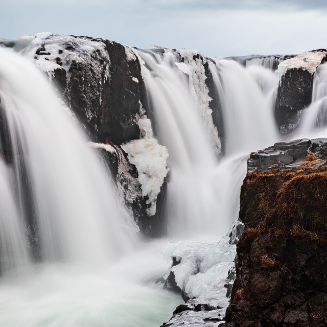 """Kolugljufur waterfall in Iceland"" stock image"