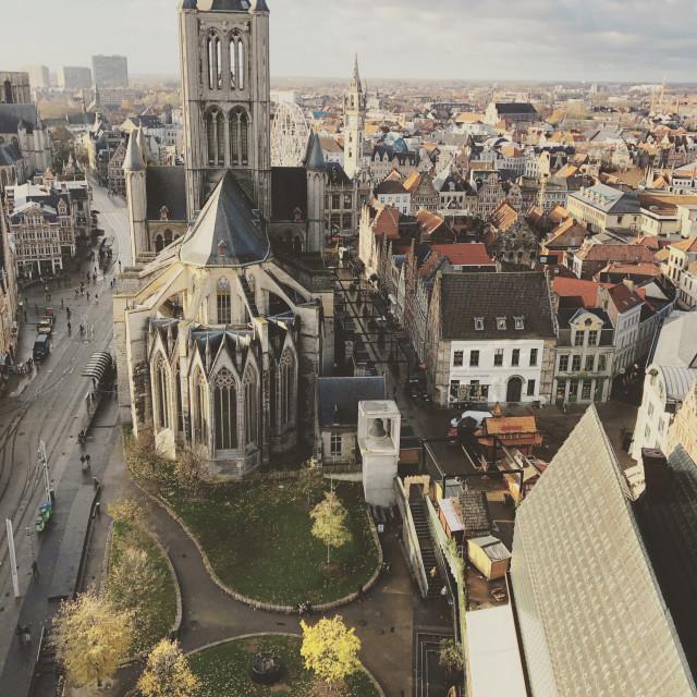 """Saint Nicholas' Church, Ghent"" stock image"