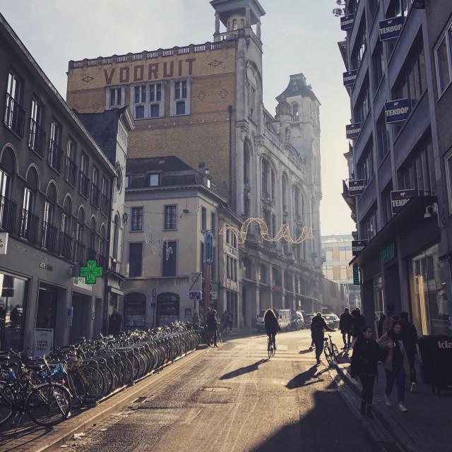 """""""Vooruit, Gent"""" stock image"""