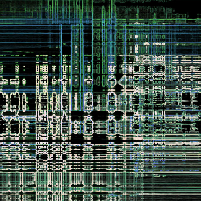 """""""Abstract neon tech background"""" stock image"""