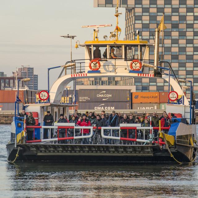 """Rotterdam ferry arriving"" stock image"