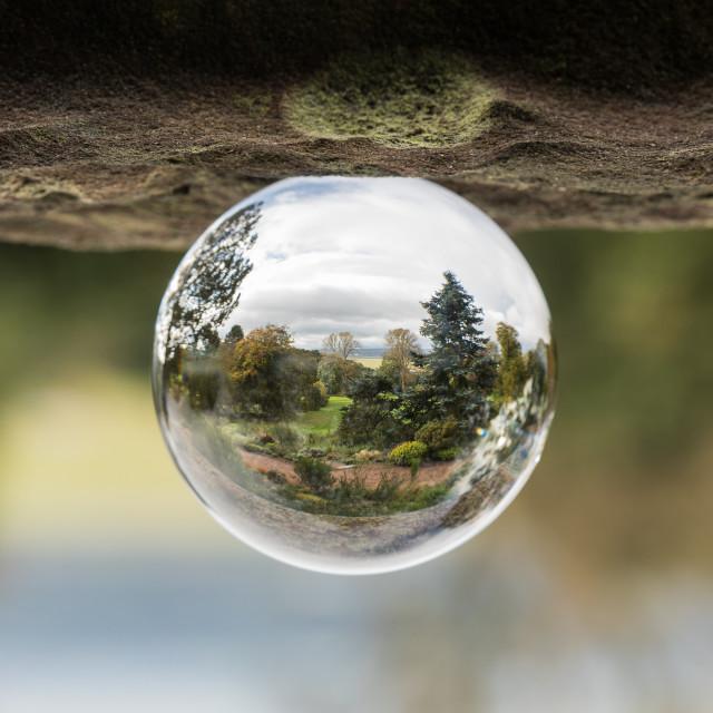 """Garden in a Globe"" stock image"