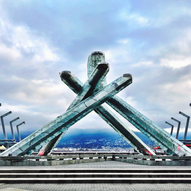 """Olympic Cauldron - Vancouver"" stock image"