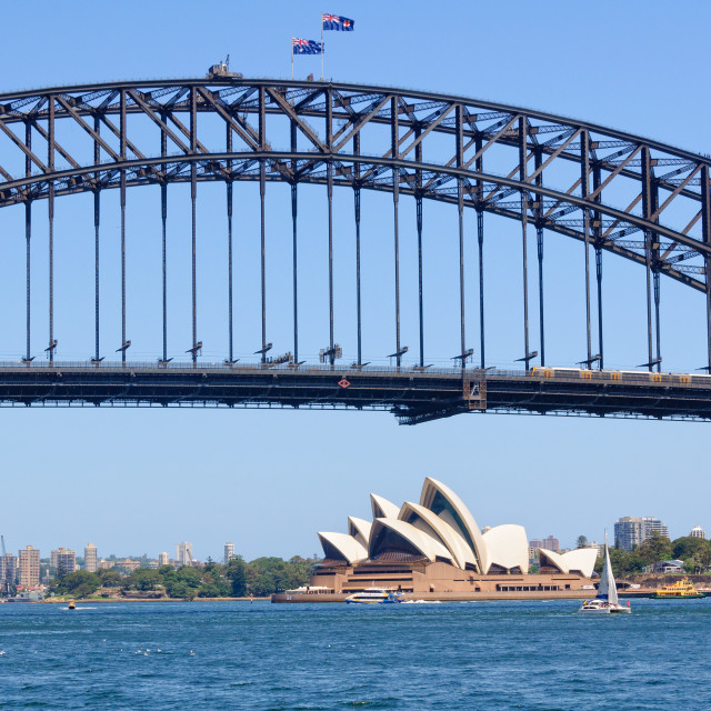 """Harbour Bridge and Opera House - Sydney"" stock image"