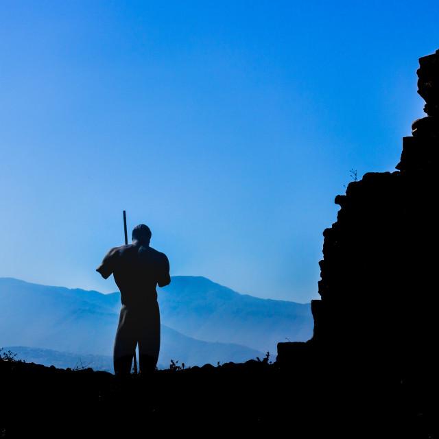 """Pompei statue."" stock image"