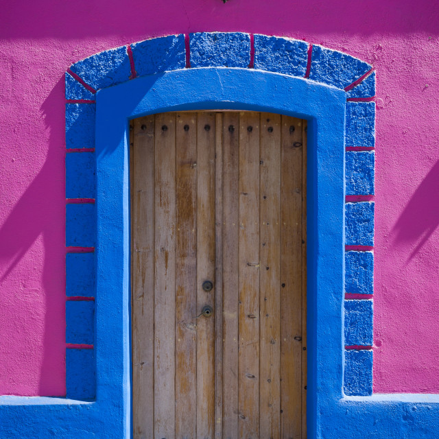"""Architecture Details of Todos Santos, Mexico"" stock image"