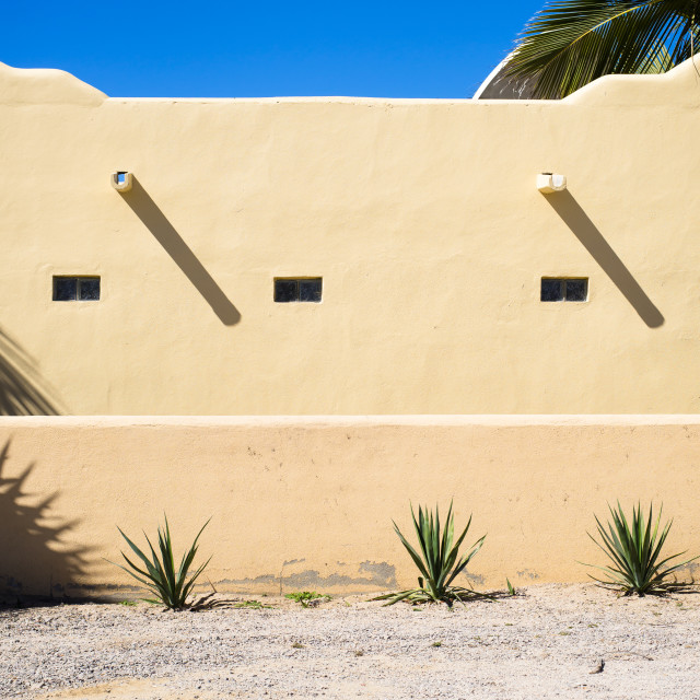 """Architecture Details of El Pescadero, Mexico"" stock image"