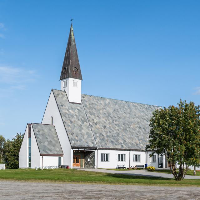 """""""Elvebakken church mid summer"""" stock image"""