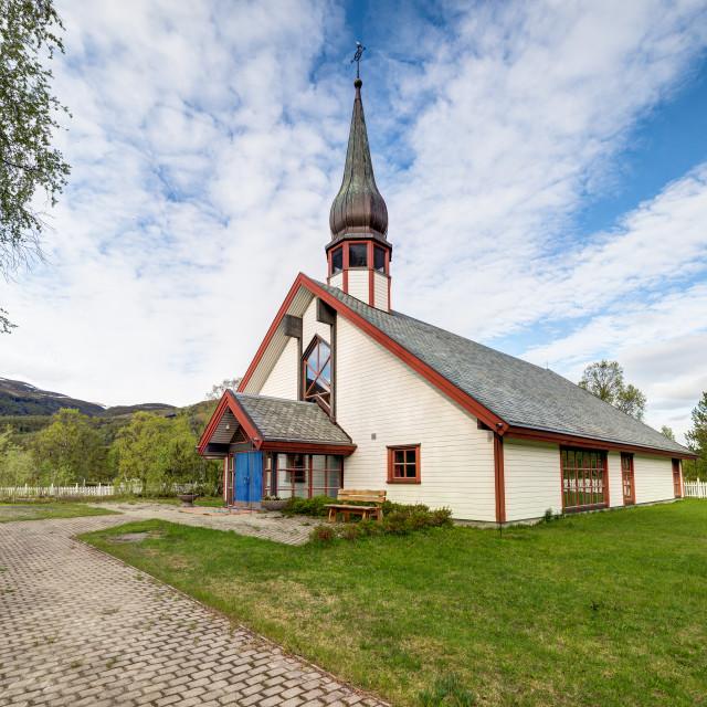 """Leirbotn church entrance"" stock image"