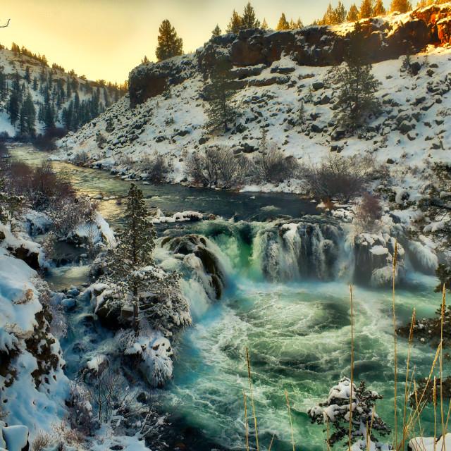 """Central Oregon's SteelHead Falls"" stock image"