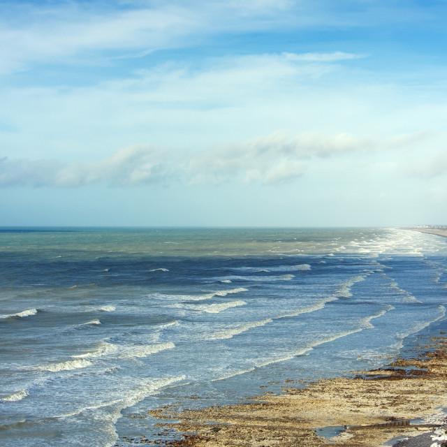 """""""Waves on Ault coast"""" stock image"""