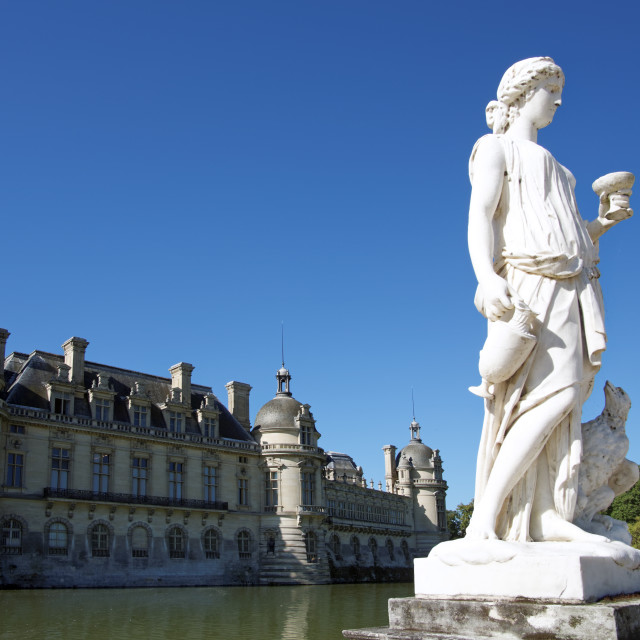 """""""Chantilly castle"""" stock image"""