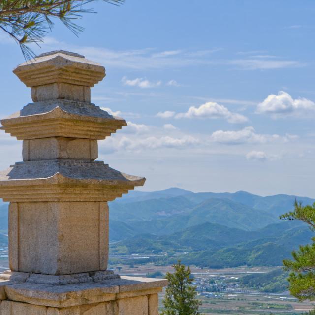 """Stone pagoda on Namsan"" stock image"