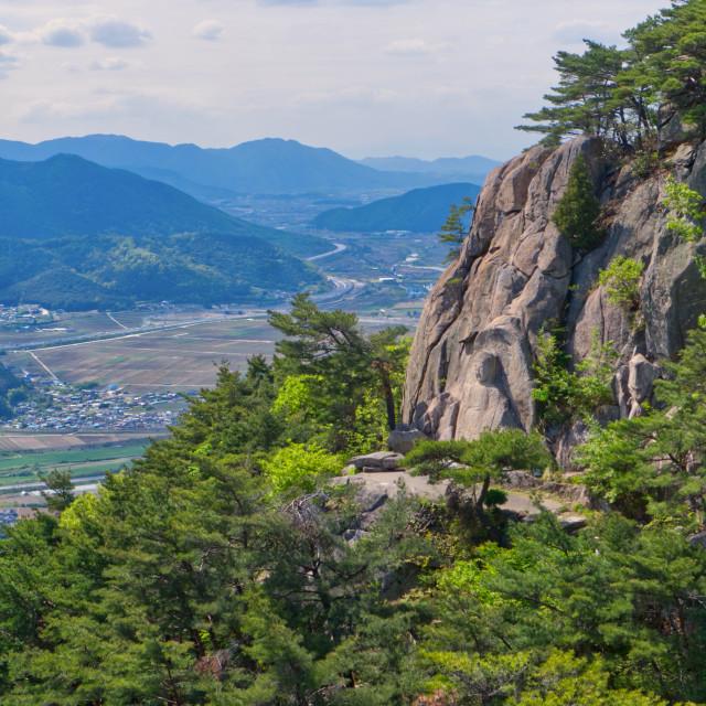 """Buddha relief on Namsan"" stock image"
