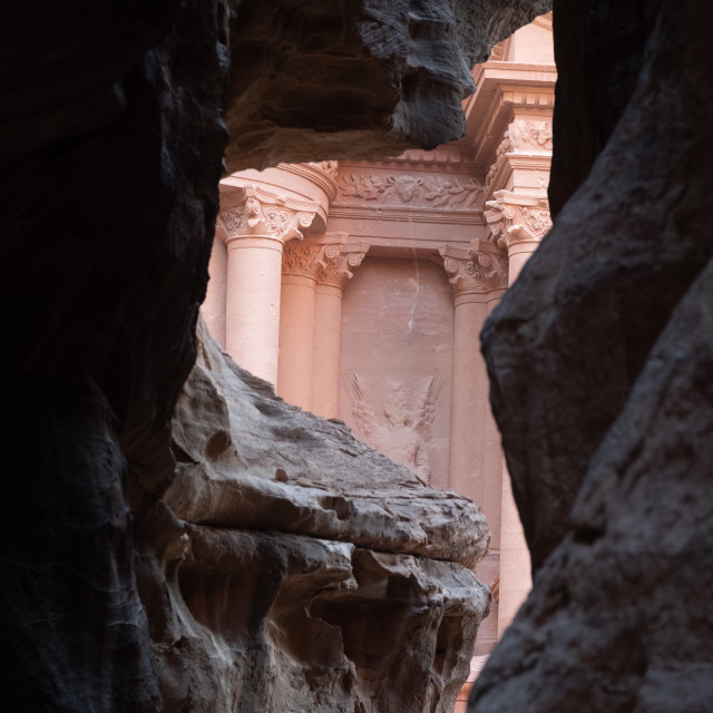 """""""entrance of City of Petra,"""" stock image"""